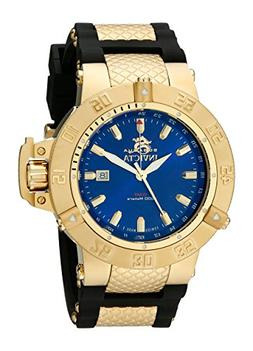 Invicta Men's 1150 Subaqua Noma III GMT Blue Dial Black Poly