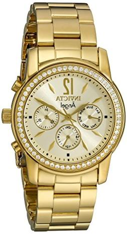 Invicta Women's 11770 Angel Gold Dial 18k Gold Ion-Plated St