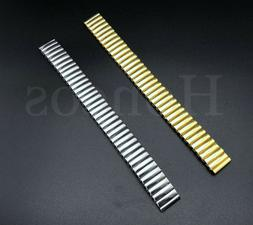 12 - 22 MM Stretch Expansion Stainless Steel Watch Band Stra