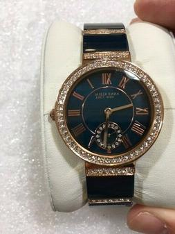 Anne Klein 12/2300NVRG Women's 33mm Rose Gold Tone/Navy Crys