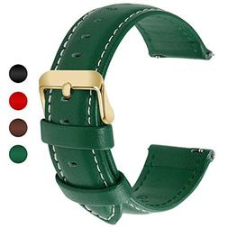 12 colors for quick release leather watch