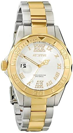 Invicta Women's 12852 Pro Diver Gold Dial Two Tone Watch wit