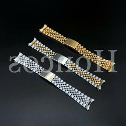 13 - 20mm Stainless Steel Curved End Jubilee Watch Band Brac