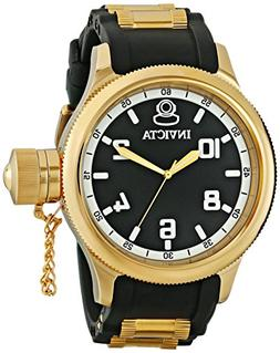 Invicta Men's Russian Diver 18k Black/Gold Ion-Plated Stainl