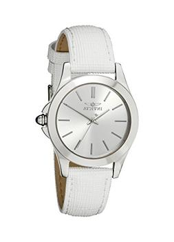 """Invicta Women's 15147 """"Angel"""" Stainless Steel and White Leat"""
