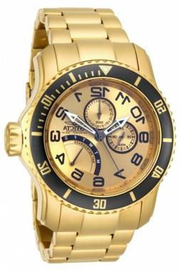 Invicta Men's 15343 Pro Diver 18k Gold Ion-Plated Stainless