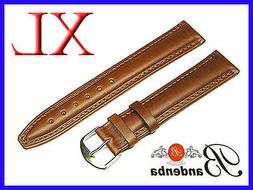 16mm 18mm 20mm 22mm 24mm Banda Brown Calf Leather Watch Band