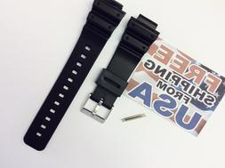 16mm Fits CASIO DW-6900 G-Shock Black PVC Watch BAND Strap D