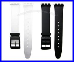16mm Generic Replacement Watch Band Strap Suits Swatch Skin