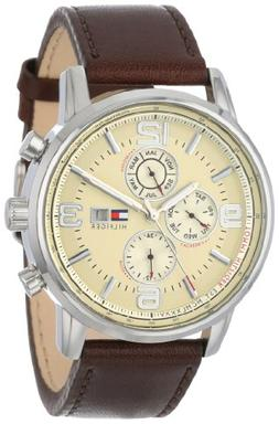 Tommy Hilfiger Men's 1710337 Stainless Steel Brown Leather W