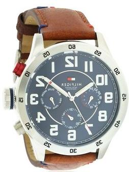 Tommy Hilfiger Men's Quartz Stainless Steel and Leather Casu