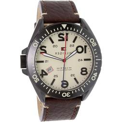 Tommy Hilfiger Men's 1791133 Brown Leather Quartz Watch