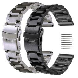 Stainless Steel Watch Band Strap For Eco-Drive Watch 18 19 2