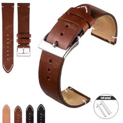 18 20 22mm Men's Genuine Leather Strap Quick Release Wrist W