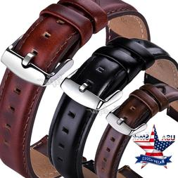 18 20 22mm Quick Release Retro Leather Watch Band Wrist Stra