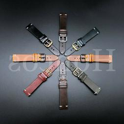 18 24 mm genuine soft leather watch