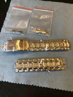 """18mm Stainless Steel Watch Band NEW 7"""" Long Flip Over Clas"""