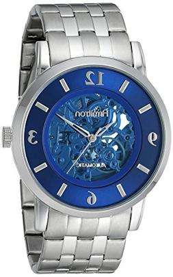 Armitron Men's 20/4989BLSV Automatic Blue Skeleton Dial Silv