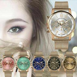 2019 Luxury Womens Watch Ladies Military Stainless Steel Ban