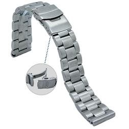 20mm/22mm 316L Oyster Solid Stainless Steel Watch Band Strap