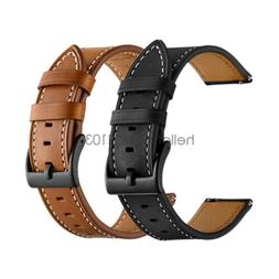 18mm 20mm 22mm Classic Genuine Leather Watch Band Strap Quic