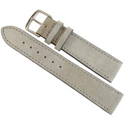 19mm Mens Fluco Light Grey Suede Leather Made in Germany Wat