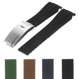StrapsCo 20mm Silicone Rubber Replacement Watch Band Strap f