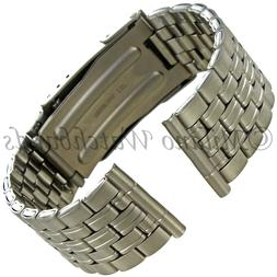 20mm Hirsch Titanium Security Fold Over Clasp Straight End M