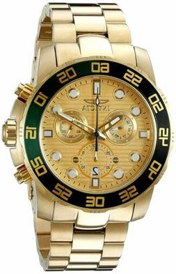 Invicta 21554 Men's Pro Diver Gold Dial Yellow Gold Steel Br
