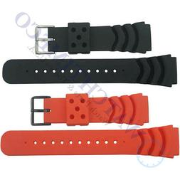 22 mm Soft Rubber Diver Watch Band Strap for Seiko Z22 4FY8J