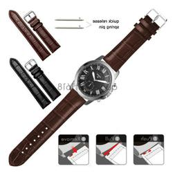 22mm 20mm Crocodile Leather Wrist Watch Band Strap For Fossi