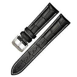 22mm Vintage Regular Replacement Genuine Leather Silver Buck