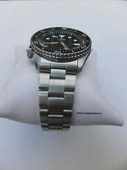 22mm CURVED STAINLESS STEEL OYSTER BRACELET FIT SEIKO 7S26,S