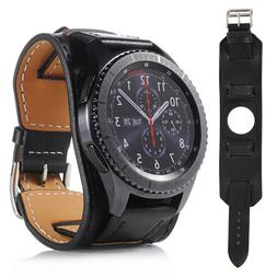 22mm Genuine Leather Band Strap For Samsung Galaxy Watch 46m