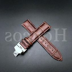 22MM LEATHER WATCH BAND STRAP FOR BULOVA ACCUTRON WATCH BUCK