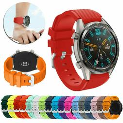 22mm Wrist Sport Rubber Silicone Watch Band Strap For Fossil