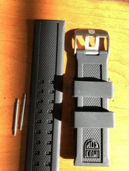 23 mm Luminox Replacement Soft Watch Band Black With Logos F