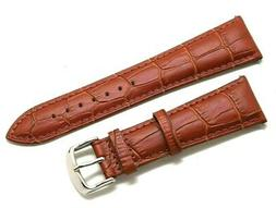 23mm Brown Quality Croco Embossed Leather Replacement Watch