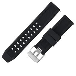 23MM RUBBER WATCH WATCH BAND STRAP FOR CITIZEN NAVIHAWK ECO
