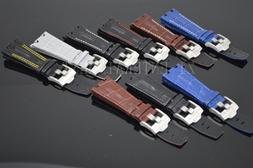 28mm alligator leather watch band strap fits