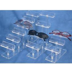 3 Eyeglass Display Clear Acrylic Glasses Stand Showcase