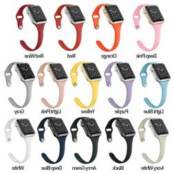 38/40mm 42/44mm Slim Silicone iWatch Band Women Strap for Ap
