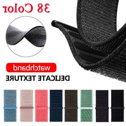 38/42/40/44/mm Nylon Sport Loop iWatch Band Strap for Apple