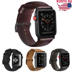 38/42 Retro Genuine Leather iWatch Band Men Casual Strap For
