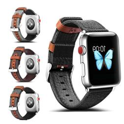 38/42MM Genuine Leather Replace Wrist Strap Band For Apple W