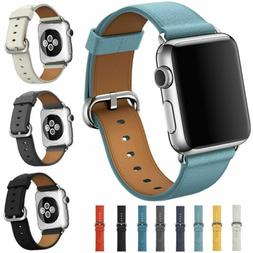 Leather Band Bracelet Strap For Apple Watch Series 4 3 2 1 3
