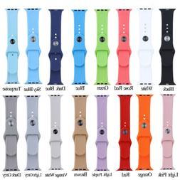 38/42mm Replacement Strap Soft Silicone Sport Wrist Band For
