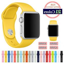 Silicone Sport Band Strap for Apple Watch iWatch Series 5 4
