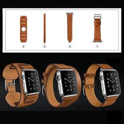 4 in1 Herme Cuff Leather Replace watch Band Wrist Strap For