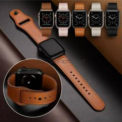 40 44mm genuine leather apple watch band